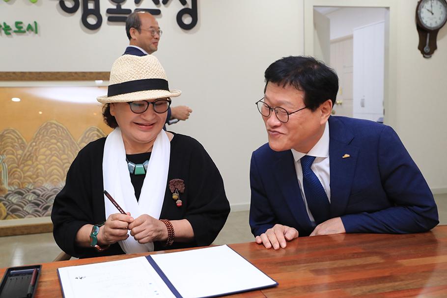 민화 기부 약정식(2019.08.28.) 2